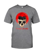 Black Cat I Hate People  Classic T-Shirt tile