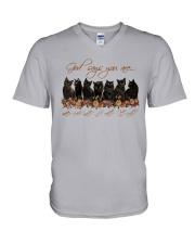 Cat - God Says You Are V-Neck T-Shirt thumbnail