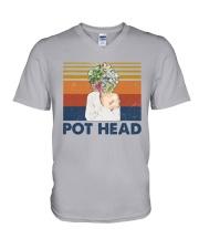 Gardening - Pot Head V-Neck T-Shirt tile