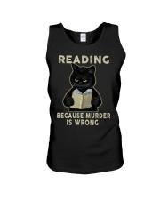 Black Cat Reading  Unisex Tank tile