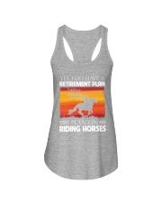 Horse Riding Ladies Flowy Tank thumbnail
