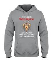 Native American Girl Hooded Sweatshirt thumbnail