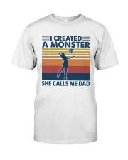 Volleyball A Monster Call Me Dad Classic T-Shirt front