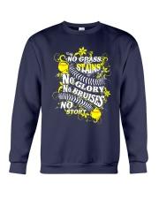 Softball No Glass Stains  Crewneck Sweatshirt thumbnail