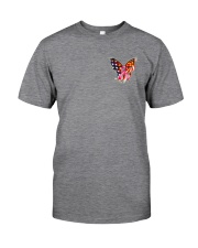 Breast Cancer Butterfly Flag 2 Sides Classic T-Shirt tile