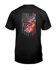 Breast Cancer Butterfly Flag 2 Sides Classic T-Shirt back