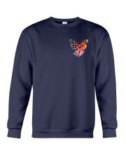Breast Cancer Butterfly Flag 2 Sides Crewneck Sweatshirt thumbnail