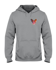 Breast Cancer Butterfly Flag 2 Sides Hooded Sweatshirt thumbnail
