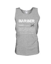 Barber-Barber Definition Unisex Tank thumbnail
