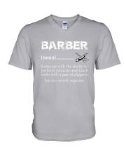 Barber-Barber Definition V-Neck T-Shirt thumbnail