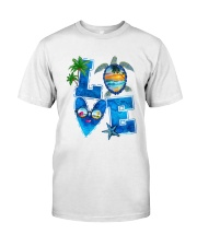 Turtle Love Beach Classic T-Shirt front