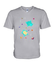 Turtle Space V-Neck T-Shirt thumbnail