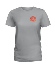 Skull Roses 2 Sides Shirts Ladies T-Shirt tile