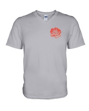 Skull Roses 2 Sides Shirts V-Neck T-Shirt tile