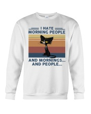 Cat - I Hate Morning People Crewneck Sweatshirt tile
