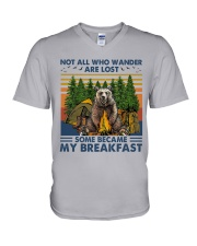 Camping - Some Became My Breakfast V-Neck T-Shirt thumbnail