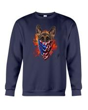 German Shepherd - American Flag 2 sides Crewneck Sweatshirt thumbnail