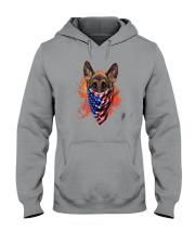 German Shepherd - American Flag 2 sides Hooded Sweatshirt thumbnail