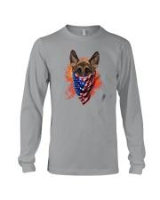 German Shepherd - American Flag 2 sides Long Sleeve Tee thumbnail