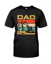 Excavator Dad Love Classic T-Shirt front