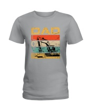 Excavator Dad Love Ladies T-Shirt tile