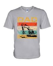 Excavator Dad Love V-Neck T-Shirt tile