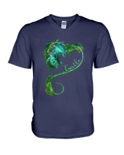 Turtle Love Beach V-Neck T-Shirt thumbnail