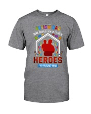 Autism Dad Rasing Hero Classic T-Shirt tile