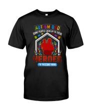 Autism Dad Rasing Hero Classic T-Shirt front