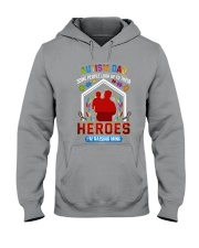 Autism Dad Rasing Hero Hooded Sweatshirt thumbnail