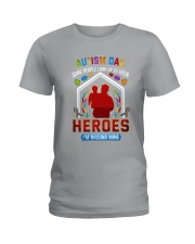 Autism Dad Rasing Hero Ladies T-Shirt thumbnail