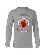 Autism Dad Rasing Hero Long Sleeve Tee thumbnail