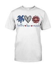 Turtle Love America Classic T-Shirt front