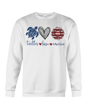 Turtle Love America Crewneck Sweatshirt thumbnail