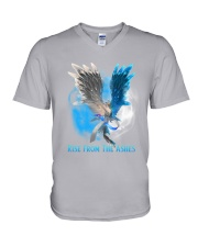 Diabetes - Rise From The Ashes V-Neck T-Shirt thumbnail