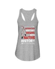 Native - American Begins History Ladies Flowy Tank tile