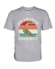 Native Go Smudge Yourself V-Neck T-Shirt thumbnail