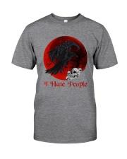 Skull - Raven I Hate People Classic T-Shirt tile