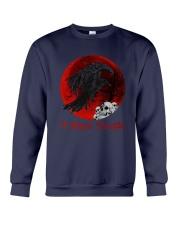 Skull - Raven I Hate People Crewneck Sweatshirt tile