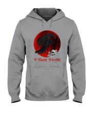 Skull - Raven I Hate People Hooded Sweatshirt tile