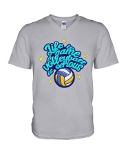Volleyball - Life Is A Game V-Neck T-Shirt tile