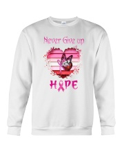 Breast Cancer Never Give Up Hope Crewneck Sweatshirt thumbnail