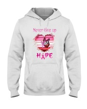Breast Cancer Never Give Up Hope Hooded Sweatshirt thumbnail