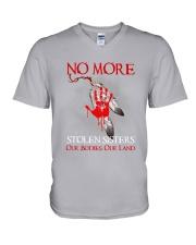 Native - No More Stolen Sisters V-Neck T-Shirt tile