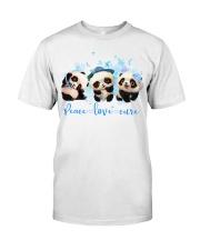 Diabetes Panda - Peace Love Cure Classic T-Shirt front