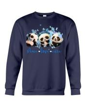 Diabetes Panda - Peace Love Cure Crewneck Sweatshirt tile