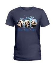 Diabetes Panda - Peace Love Cure Ladies T-Shirt tile