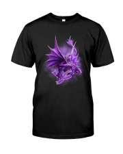 Fibromyalgia-Strong Like A Dragon Classic T-Shirt front