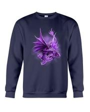 Fibromyalgia-Strong Like A Dragon Crewneck Sweatshirt thumbnail