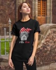 Pittie Mom Shirt for Pitbull Dog Lovers Classic T-Shirt apparel-classic-tshirt-lifestyle-06